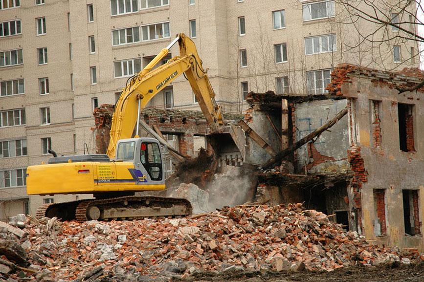 demontaj - Подготовка к демонтажу здания